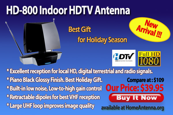 Home Antenna LAVA HD-800 Indoor HDTV Antenna