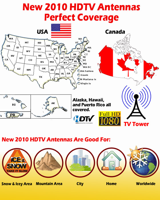Outdoor HDTV Antenna Coverage Map